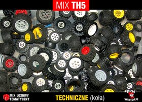 MIX TH5 = 0,15kg LEGO TECHNIC koła