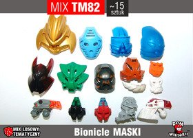MIX TM82 = MASKI -LEGO BIONICLE HERO FACTORY 15szt
