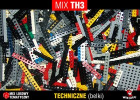 MIX TH3 = 0,15kg LEGO TECHNIC belki -30% TANIEJ
