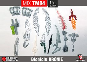 MIX TM84 = BRONIE LEGO BIONICLE HERO FACTORY 15szt